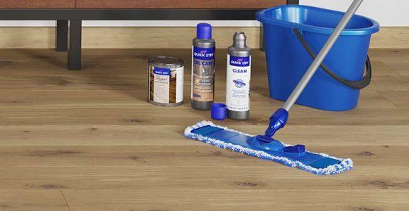 como limpar piso de madeira